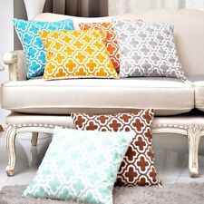 2PCs Embroidered Cushion Covers Pillow Cases Geometric Cotton linen 18''x18''