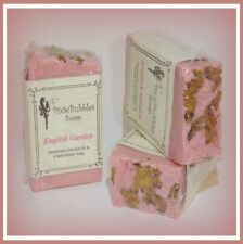 PixieBubbles Handmade Soap ENGLISH GARDEN Coconut Oil & Greek Yogurt Shea Butter