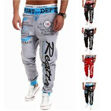 Trousers Baggy Mens Letter Printing Baggy Harem Cool Long Pants Joggers Wear 21