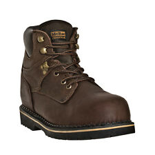 McRae Industrial Mens Brown Leather 6in Lace-Up Soft Toe Work Boots
