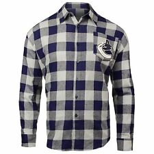 Vancouver Canucks NHL Large Check Flannel Shirt