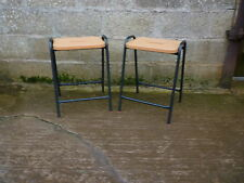 Industrial stacking school cafe laboratory bar stools x 2 used