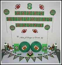 ** FOOTBALL FOOTY Personalised BIRTHDAY Kids Mens Adults Party Decorations **