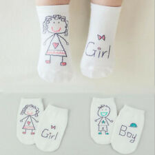Boy Cartoon Baby Socks Infant Fashion Girl Toddler White Non-slip Cute Cotton