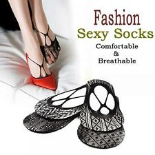Fashion Women Gift Gift Ankle Boat Socks Sexy Black Lace Low Cut