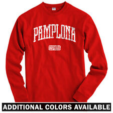 Pamplona Spain Long Sleeve T-shirt - LS Men S-4X - Gift España Navarre Running