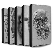 STUFF4 PU Leather Case/Cover/Wallet for Samsung Galaxy S3 Mini/Skull Art Sketch