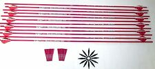 12 Victory Archery VAP Pink V3 Carbon Arrow Inserts Uncut and field points