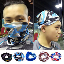 Biker Sport Scarf Face Mask Neck Tube Bandana Snood Wrap Hood Beanie Head Wear
