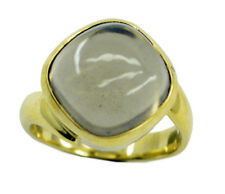 Smoky Quartz Gold Plated Ring exquisite Brown gemstone AU K,M,O,Q