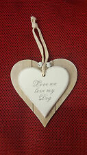 Shabby Chic Hanging Wooden Heart Plaque-Valentine-Birthday-Mothers day-Gift