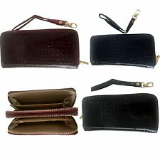 New Womens Ladys Patent Leather PU Wallet w Double Zip Fashion Wallet