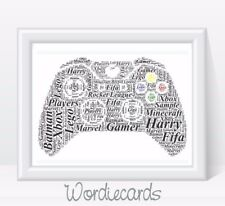 Thank You Teacher Assistant Nursery Apple Word Art Print Personalised Gift