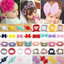 Baby Kids Girls Princess Bunny Rabbit Bowknot Turban Headband Hair Band Headwrap