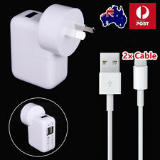 Dual USB Port Wall Cable Charger Adapter Cable for iPhone 7 iPad iPod iOS 10 9.3