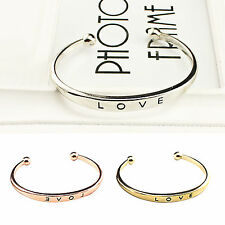 Fashion Style Gold / Sliver/ Rose Gold Plated Bangle Cuff Women Jewelry Bracelet