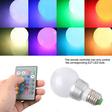 Sunix 3W E27 RGB Dimmable LED Bulb 16 Color Changing Light Décor /Remote Control