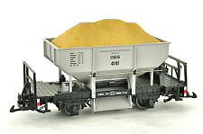 LGB G Gauge #4141 Coal Ore Ballast Hopper Train Car Grey with Sand