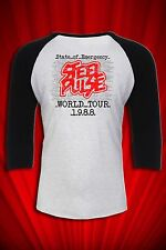 Steel Pulse 1988 Tour T-SHIRT Vintage Reggae FREE SHIP USA State of Emergency