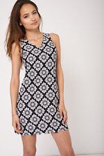 Ladies V Neck Patterned Dress Ex-Branded - Womens sexy party dress - BNWT