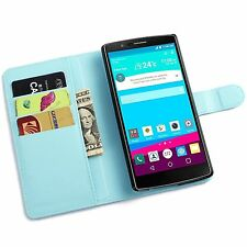 PU Leather Magnetic Flip Wallet Card Stand Holder Case Cover Pouch For LG G3 G4