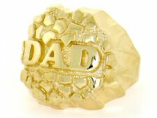 10k / 14k Solid Yellow Gold Nugget Dad Mens Ring