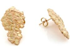 10k / 14k Solid Yellow Gold 1.5cm Nugget Pin Earrings
