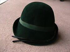 VINTAGE LADIES HAT Medium 1930s / 40s BOTTLE GREEN