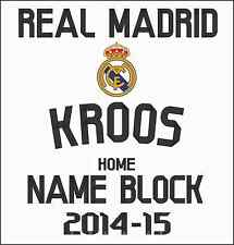 """KROOS"" Official Real Madrid Home Football Shirt Adult Name Block 2014/15 Print"