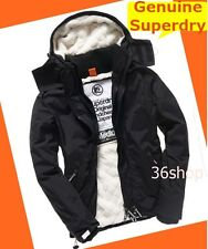 RRP £90 ~ XL  Mens Superdry (3 Layer Zips ) Cream Sherpa Black Jacket - NEW