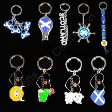 Scotland Saltire, Highland Cow, Lock Ness, Scottish Dog Souvenir Brass Keyring K