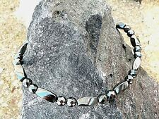 Mens Womens 100% Magnetic Hematite Anklet Necklace Bracelet Healing 1Row HEALING