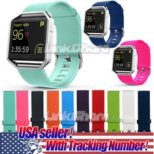 USA Seller Soft Silicone Band Wrist Strap For Fitbit Blaze Fitness Watch Tracker