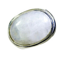 Rainbow Moonstone Silver Ring L-1in presentable White supplies AU K,M,O,Q