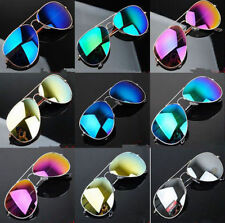Unisex Women Men Vintage Retro Fashion Mirror Lens Sunglasses Glasses EEP