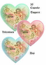 20 Edible Toppers Valentines Day Fairies Hearts Cake Decoration Love