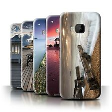 STUFF4 Phone Case/Back Cover for HTC One/1 M9 /English Seaside