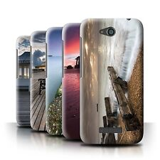 STUFF4 Phone Case/Back Cover for HTC Desire 616 /English Seaside
