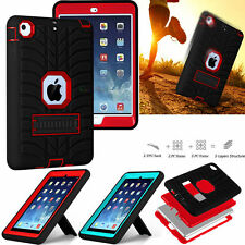 Shockproof Slim Armor Defender Heavy Case Cover Stand For Apple iPad Mini 2 3 4