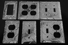 Diamond Plate Single Outlet Covers & Switch Plates Box (Qty 36)
