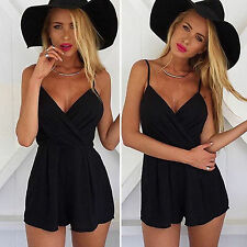 Womens Lady Strap Summer Jumpsuit Beach Party Shorts Romper Playsuit Mini Dress
