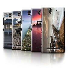STUFF4 Phone Case/Back Cover for Sony Xperia C3 /English Seaside