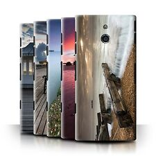 STUFF4 Phone Case/Back Cover for Sony Xperia P/LT22i /English Seaside
