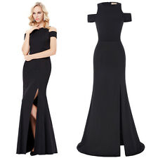 Women Off Shoulder Formal Prom Maxi Dress Pageant Evening Party Ball Gown Long