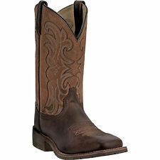 Dan Post Mens Brown Lindbergh Leather Cowboy Boots 11in Square Toe