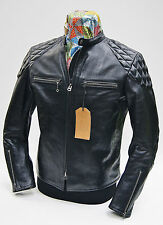 Thedi x Thurston Buco J-100 Cafe Racer Black Horsehide Leather Jacket, IN STOCK