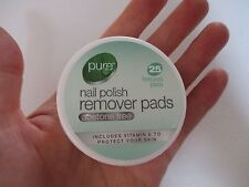 Pots of Pure Acetone Free Nail Polish/Varnish Remover Textured Pads/Wipes