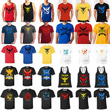 Pokemon GO Printed Mens Short Sleeve Casual Sports Tee Shirt Tops T-shirt Outfit