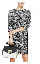 M&S Marks and Spencer Animal Print Panel Tailored Shift Dress £45 **1/2 price !