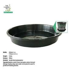 "200mm Black Plastic Pot Saucer | Range of packs | suits 8"" plant & garden pots."